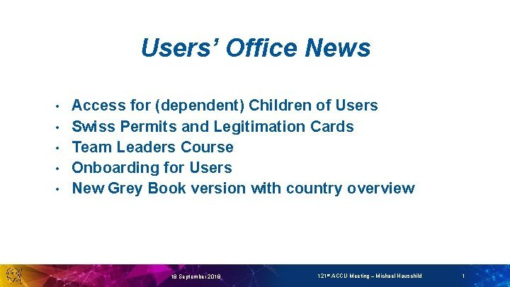 Users Office News Access for dependent Children of