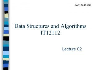 www hndit com Data Structures and Algorithms IT