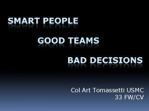 Col Art Tomassetti USMC 33 FWCV A person