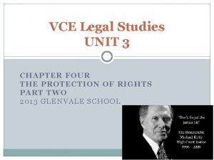VCE Legal Studies UNIT 3 CHAPTER FOUR THE