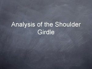 Analysis of the Shoulder Girdle Bent Over Rows