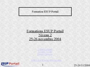 Formation ESUP Portail Formations ESUP Portail Niveau 2