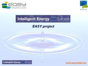 EASY project www easyaction eu Plan Local EASY