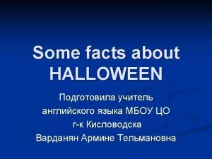 ITS HALLOWEEN Its Halloween The moon is full
