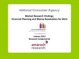 National Consumer Agency Market Research Findings Financial Planning