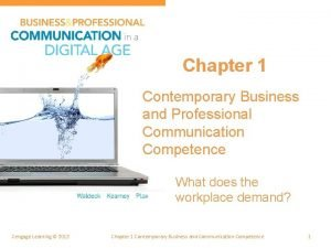 Chapter 1 Contemporary Business and Professional Communication Competence