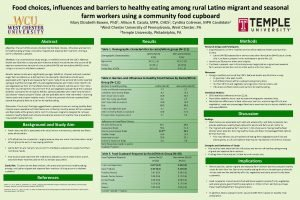 Food choices influences and barriers to healthy eating