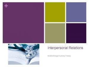 Interpersonal Relations Middle Range Nursing Theory Interpersonal Relations