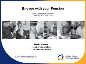 Engage with your Pension Dublin Chamber of Commerce
