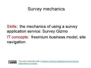 Survey mechanics Skills the mechanics of using a