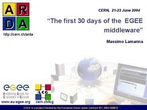 CERN 21 23 June 2004 http cern charda