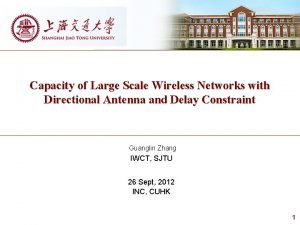 Capacity of Large Scale Wireless Networks with Directional