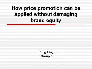 How price promotion can be applied without damaging