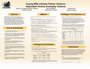 Coping With Intimate Partner Violence Dependent Victims Downplay