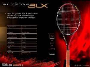 Choice of greatest ever Roger Federer Six One