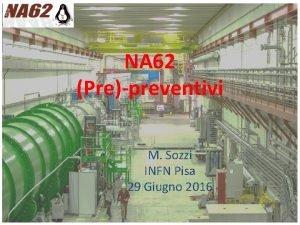 NA 62 Prepreventivi M Sozzi INFN Pisa 29