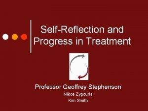 SelfReflection and Progress in Treatment Professor Geoffrey Stephenson