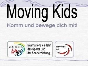 Jugendsportgruppe Mdchen Mittelstufe Unser Programm Bewegung tut gut
