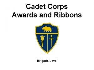 Cadet Corps Awards and Ribbons Brigade Level Leadership
