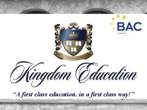 A first class education in a first class