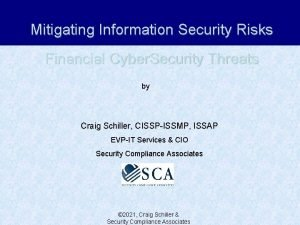 Mitigating Information Security Risks Financial Cyber Security Threats