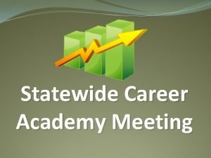 Statewide Career Academy Meeting Really really good questions
