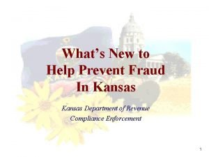 Whats New to Help Prevent Fraud In Kansas