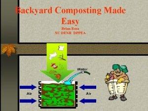 Backyard Composting Made Easy Brian Rosa NC DENR