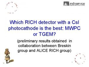 Which RICH detector with a Cs I photocathode