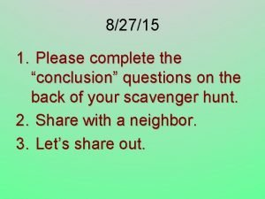82715 1 Please complete the conclusion questions on
