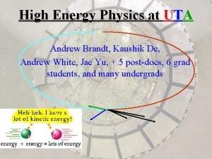 High Energy Physics at UTA Andrew Brandt Kaushik