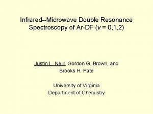 InfraredMicrowave Double Resonance Spectroscopy of ArDF v 0