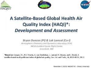 A SatelliteBased Global Health Air Quality Index HAQI