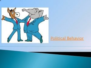 Political Behavior What Is a Party A political