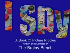 A Book Of Picture Riddles Written and Illustrated