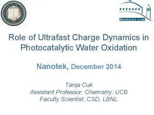 Role of Ultrafast Charge Dynamics in Photocatalytic Water