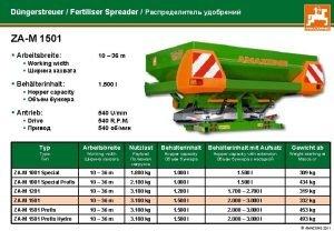 Dngerstreuer Fertiliser Spreader ZAM 1501 Arbeitsbreite 10 36