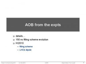AOB from the expts q details 150 ns