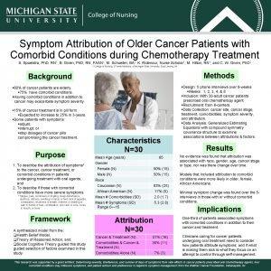 Symptom Attribution of Older Cancer Patients with Comorbid