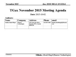 November 2015 doc IEEE 802 11 151232 r