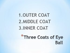 1 OUTER COAT 2 MIDDLE COAT 3 INNER