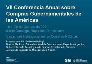 VII Conferencia Anual sobre Compras Gubernamentales de las
