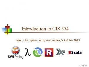 Introduction to CIS 554 www cis upenn edumatuszekcis