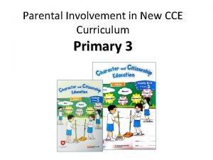 Parental Involvement in New CCE Curriculum Primary 3