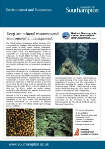 Environment and Resources Deepsea mineral resources and environmental