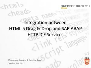 Integration between HTML 5 Drag Drop and SAP
