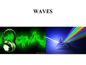 WAVES WAVES a repeating disturbance that transfers energy