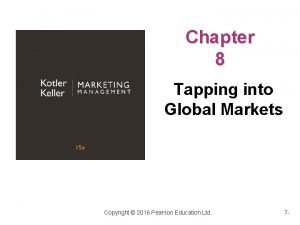 Chapter 8 Tapping into Global Markets Copyright 2016