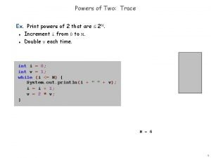 Powers of Two Trace Ex Print powers of