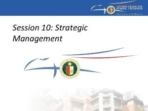 Session 10 Strategic Management Strategic management model External